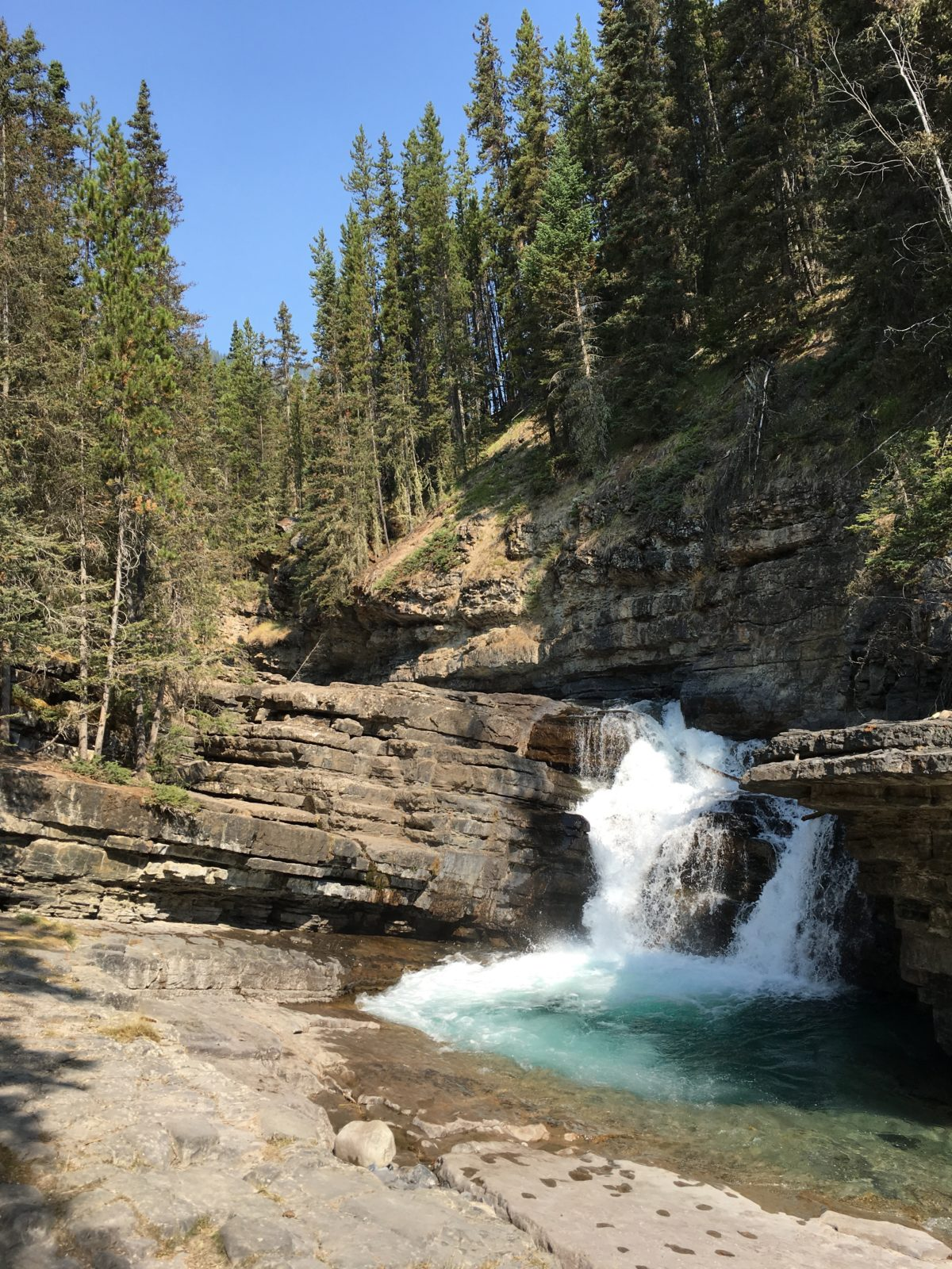 hiking johnston canyon  and the  u0026quot secret cave trail