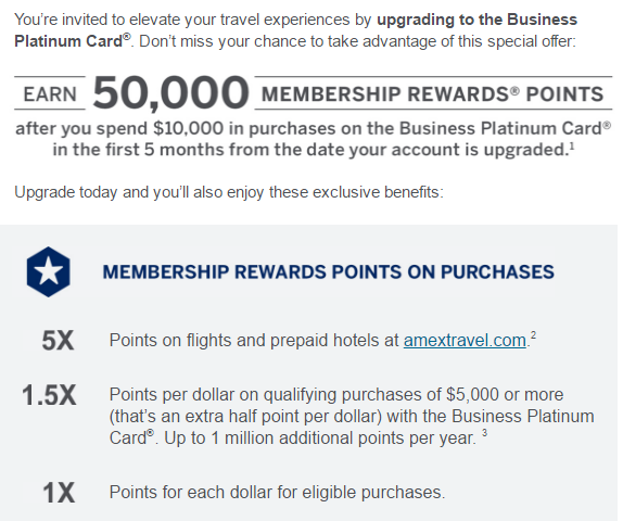 Surprise email my american express business gold card upgrade offer when i opened the email i got the following colourmoves