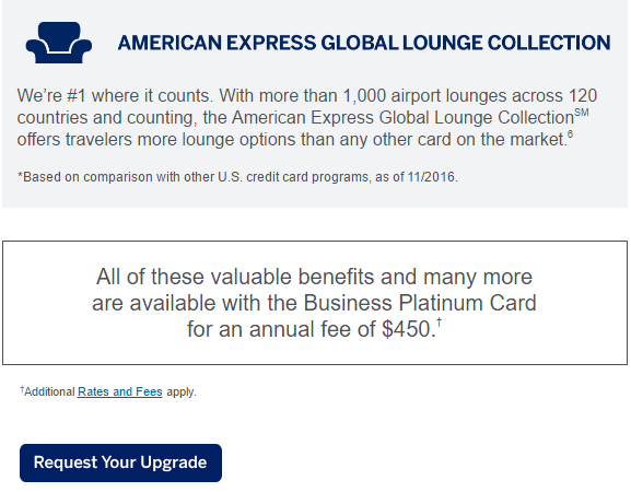 Surprise email my american express business gold card upgrade offer strangely when i clicked on the request your upgrade button above i got an error message uh oh i thought colourmoves