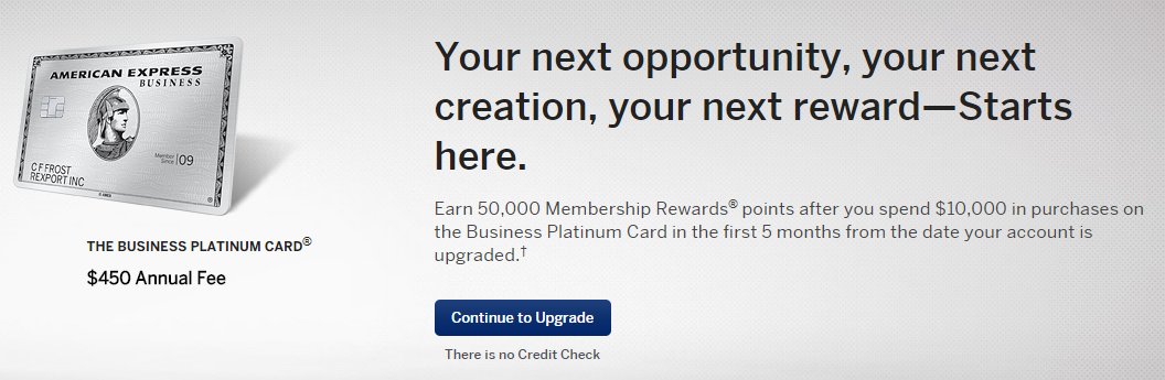Surprise Email My American Express Business Gold Card Upgrade Offer