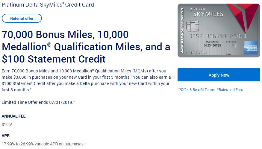 Americanexpress Com Delta >> Expires 7 31 2019 Better Than Public Offer Earn 70 000 Bonus Miles