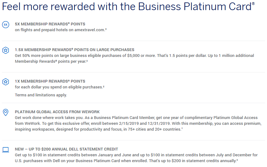 Earn 75 000 Membership Rewards Points And Get 1 Year Of Wework Access With The Business Platinum